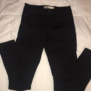 GARAGE Black Ripped Skinny Jeans